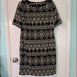 Tahari Arthur Levine print dress sz 16
